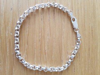 Silverarmband silverlänk ärtlänk ärtkedja i sterling silver 925 Hallbergs  Guld 451c5cdfecde8