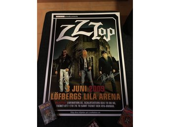 ZZ-Top full signerad poster