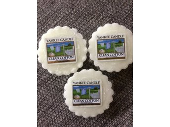 3 st nya Yankee Candle vaxkakor Clean Cotton