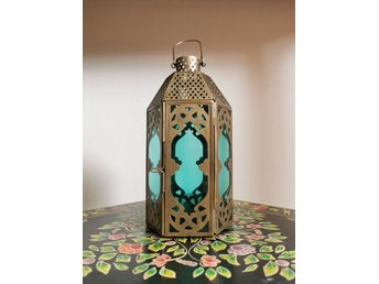 Indiska Ljuslykta Handgjord Lantern Bohem B 411143175 ᐈ Kop Pa Tradera