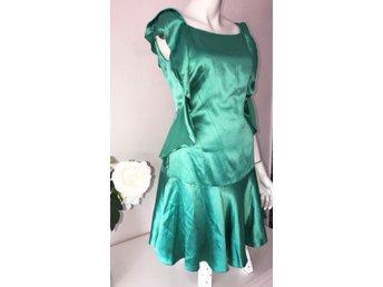 Karen Millen England fri frakt grön klänning fest bröllop festklänning 40 bf0913cebc106