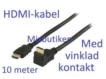 10m HDMI-kabel, 90° vinklad kontakt, 1.4 1080p. 10 meter High Speed m. Ethernet - Forsbacka - 10m HDMI-kabel, 90° vinklad kontakt, 1.4 1080p. 10 meter High Speed m. Ethernet - Forsbacka