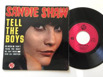 Sandie Shaw French Ep Tell the boys + 3 PYE 1967 Rare