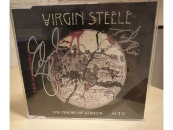 "Virgin Steele - House of Atreus 2 - Signerad 5 spårs promo Inkl Tygpatch ""logo"""