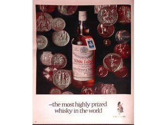 WHITE LABEL THE MOST HIGHLY PRIZED WHISKY TIDNINGSANNONS Retro 1968