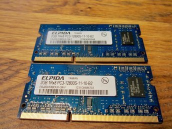 Ram-minne 4 GB ELPIDA SO-Dimm DDR3 - 1600 Mhz - 12800S  -  (2 Gb +  2GB)