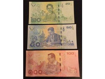 Javascript är inaktiverat. - Falkenberg - Ovikta och ocirkulerade sedlar!!!Thailand 20, 50, 100 baht 2017 commemorative/jubileumssedlarDe senaste jubileumssedelarna från Thailand! - Falkenberg