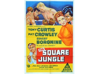 THE SQUARE JUNGLE (1955) COLLECTOR'S DVD-R  BOXING TONY CURTIS  ERNEST BORGNINE