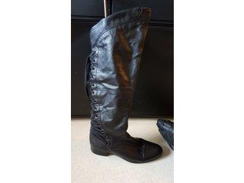 94c78d4297c Billi bi overknee lårhöga stövlar svarta (335583090) ᐈ Köp på Tradera