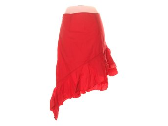 NLY Trend, Långkjol, Strl: 36, High Low Frill Skirt, Röd