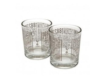 Tottenham Whiskeyglas Text 2-Pack