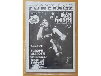 POWERAGE 1/83  Iron Maiden Europe Whitesnake Black Sabbath mm.