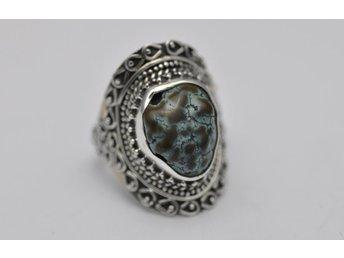 Jätte vackert handgjord TURKOS silver 925 ring - Malmö - Jätte vackert handgjord TURKOS silver 925 ring - Malmö
