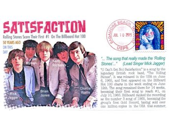 "50th Anniversary of the Rolling Stones' ""Satisfaction"" Event Cover"