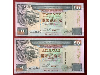 Hong Kong -1993 20$ 2 runs P-201a all GEM UNC