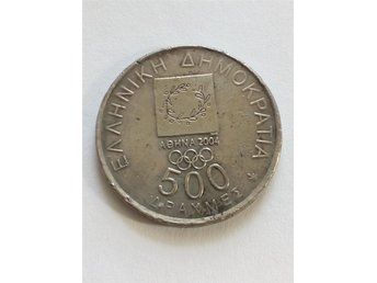 Grekland , 500 DRACHMAS OF OLYMPIC GAMES OF ATHENS 2004