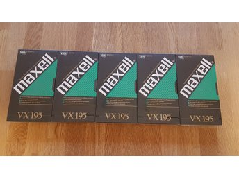 Maxell VHS band 195 minuter x 5