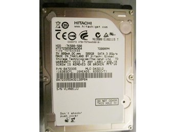 Hitachi GST Travelstar 7K500 500GB S-ATA 2.5""