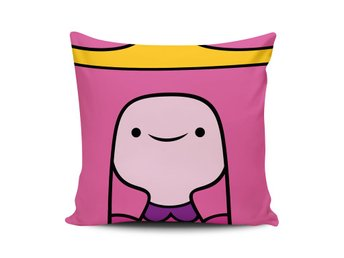 PRINCESS BUBBLEGUM ADVENTURE TIME ROSA KUDDFODRAL ÄVENTYRSDAGS KUDDE PRINSESSA