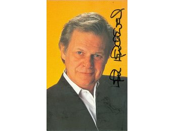 KEN KERCHEVAL AMERICAN ACTOR CLIFF BARNES IN *DALLAS* TV SERIES AUTOGRAF FOTO
