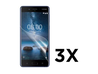Nokia 8 Tre pack display film - Genomskilnigt