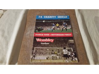 Program fotboll FA CHARITY SHIELD 1978 Ipswich Nottingham Forrest