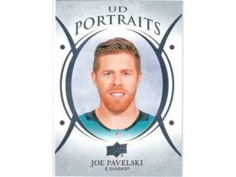 2018-19 Upper Deck UD Portraits P-8 Joe Pavelski San Jose Sharks