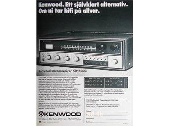 KENWOOD KR-5200 OM NI TAR HI-FI PÅ ALLVAR TIDNINGSANNONS 1973 - öckerö - KENWOOD KR-5200 OM NI TAR HI-FI PÅ ALLVAR TIDNINGSANNONS 1973 - öckerö