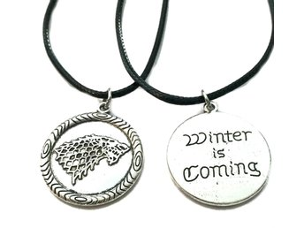 Halsband Winter is coming Game Of Thrones House Stark Rem