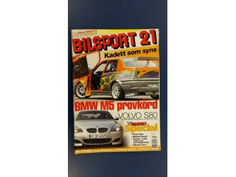 Bilsport nr 21 2004: Guide Cadillac STS, BMW M5 e60, Ford Mustang, Octavia RS