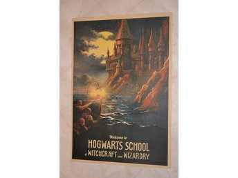 Hogwarts School of Witchcraft Wizardry Harry Potter Poster Affisch 30*42cm Ny