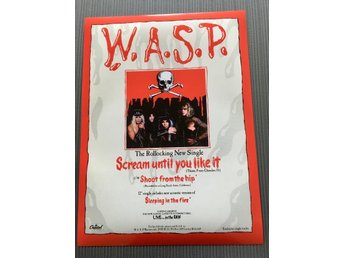 W.A.S.P SCREAM UNTIL YOU LIKE IT 1987 PHOTO POSTER