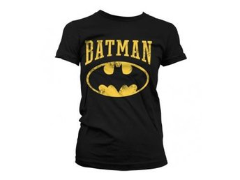Batman T-shirt Vintage Dam Svart XL