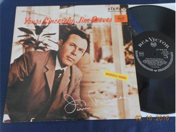 JIM REEVES - Yours Sincerely, LP RCA Victor LSP-3709(e), Tyskland 1966