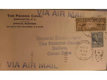 AIR MAIL USA - Canal Zone, 1939.