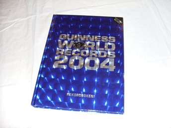 Guinness 2004 Rekordbok Svensk utgåva bok Guinness World Records Book
