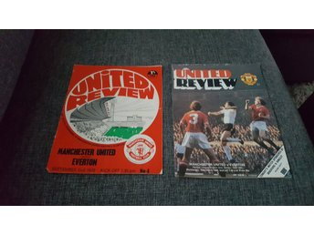 Program Manchester United v Everton 70-71 & 79-80
