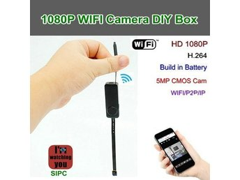 WIFI-kameramodul box 1080p / 25fps, 5.0MP kamera / H.264, Inbyggd batteri