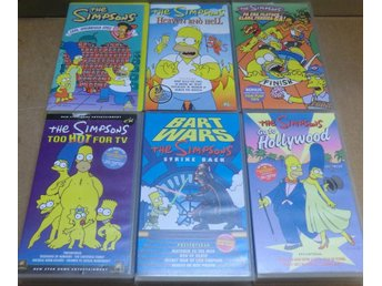 6 x VHS filmer med The Simpsons !!!