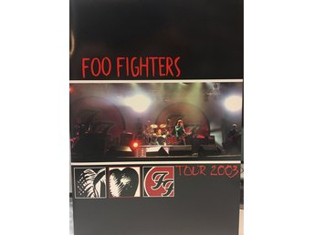 Foo Fighters Tour 2003 Turné program TOPPSKICK