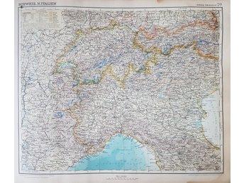 Karta Italien Spanien.Antik Karta Over Spanien Mallorca Och Portugal 338538816 ᐈ Kop
