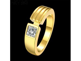 Top Quality 24K Yellow Gold Plated Men Ring Hot Items Male 2016 New