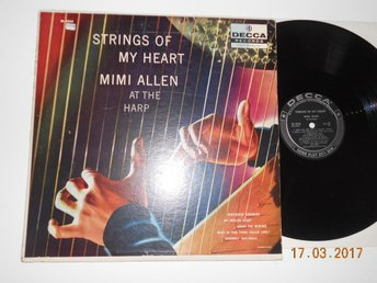 HARPA LP - MIMI ALLEN - Strings of my heart, Jazzig easy LP Decca USA 50-tal