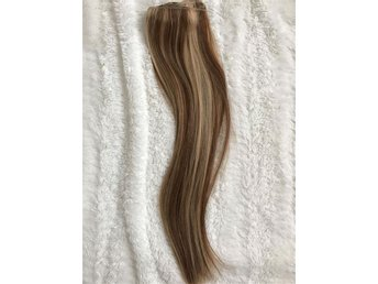 Hårträns äkta löshår, extensions, P8/24, strawberry brown, Rapunzel of sweden