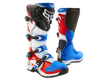 Fox Comp 5 Boot Blue/Red 9
