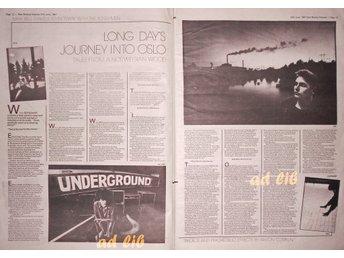 ECHO AND THE BUNNYMEN - TALES FROM A NORWEGIAN WOOD, STOR TIDNINGSARTIKEL 1981 - öckerö - ECHO AND THE BUNNYMEN - TALES FROM A NORWEGIAN WOOD, STOR TIDNINGSARTIKEL 1981 - öckerö