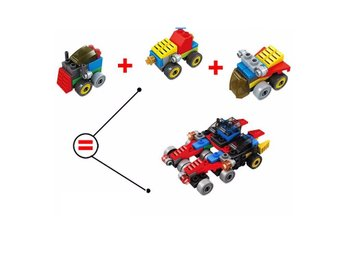 3 i 1  3D City Smart Bilar Brain Toys Vehicles likt LEGO Leksaker - YY0882