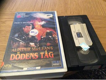DÖDENS TÅG HYR VHS AV ALISTAIR Mac LEANS,Pierce Brosnan mm