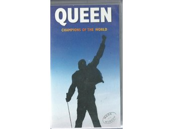 QUEEN - CHAMPIONS OF THE WORLD  -UTGÅTT!( EJ TEXT ! VHS ! )