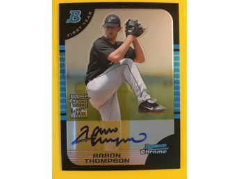 AARON THOMPSON: 2005 Bowman Chrome Draft #170 RC